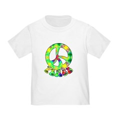 Flower Child Peace Toddler T-Shirt