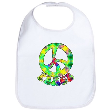 Flower Child Peace Bib