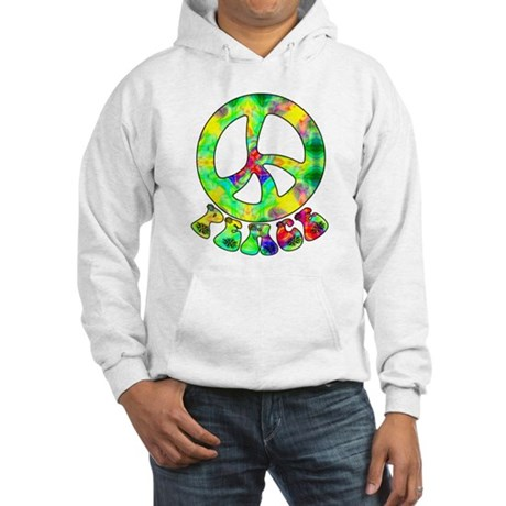Flower Child Peace Hooded Sweatshirt