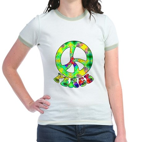 Flower Child Peace Jr. Ringer T-Shirt
