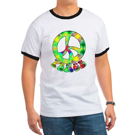 Flower Child Peace Ringer T