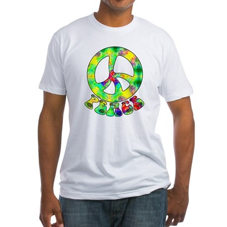 Flower Child Peace Fitted T-Shirt