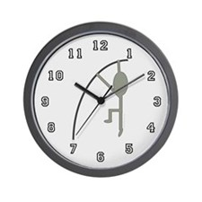 Grey Pole Vaulter Wall Clock