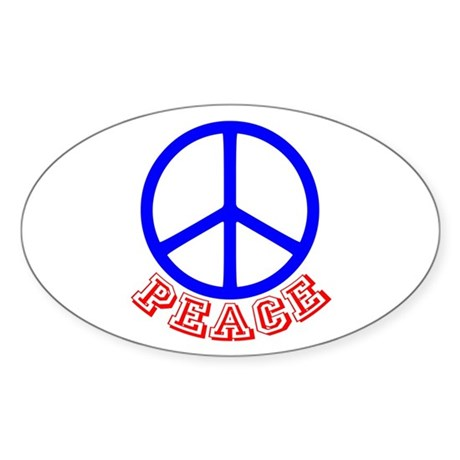 Peace Symbol v9 Oval Sticker
