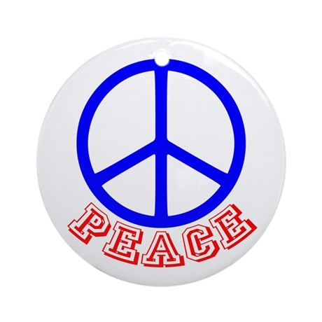 Peace Symbol v9 Ornament (Round)