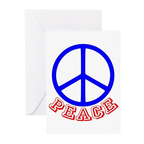 Peace Symbol v9 Greeting Cards (Pk of 10)