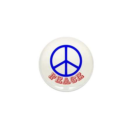 Peace Symbol v9 Mini Button