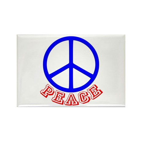 Peace Symbol v9 Rectangle Magnet