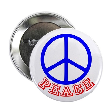 "Peace Symbol v9 2.25"" Button"