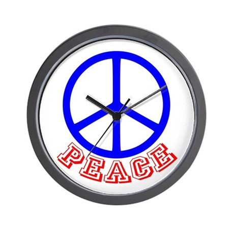 Peace Symbol v9 Wall Clock