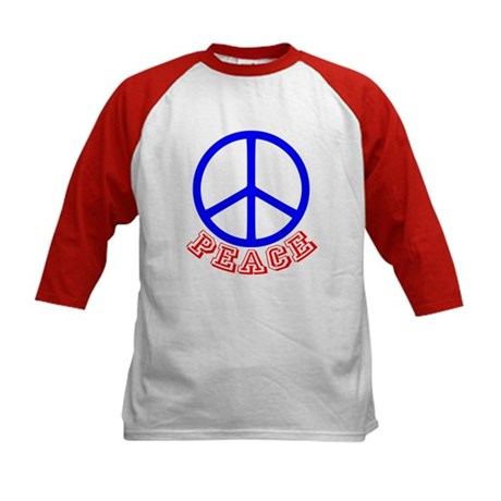 Peace Symbol v9 Kids Baseball Jersey