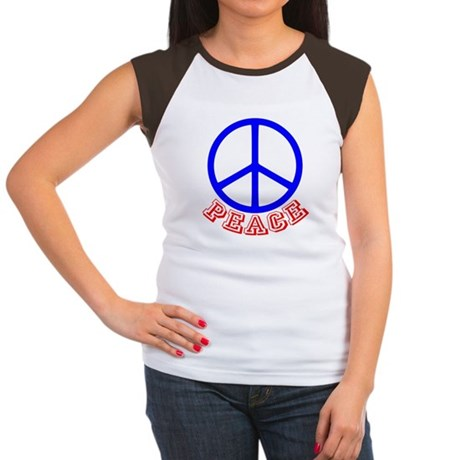 Peace Symbol v9 Women's Cap Sleeve T-Shirt