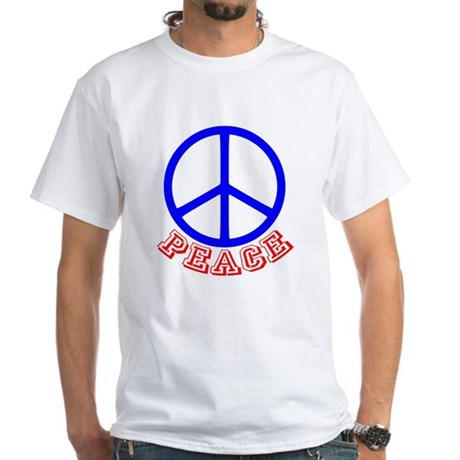 Peace Symbol v9 White T-Shirt