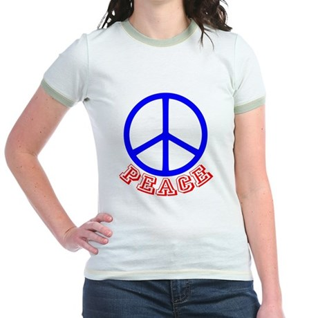 Peace Symbol v9 Jr. Ringer T-Shirt