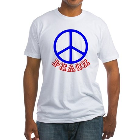 Peace Symbol v9 Fitted T-Shirt