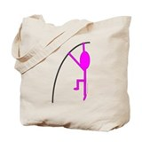 Pink Pole Vaulter Tote Bag