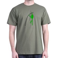 Green Pole Vaulter T-Shirt