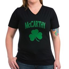 McCarthy Irish Women's V-Neck Dark T-Shirt