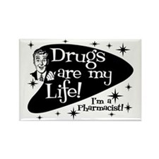 Drugs are my life Rectangle Magnet