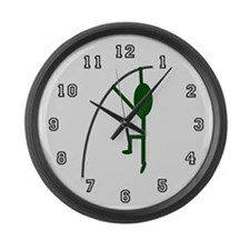 Cute Polevaulter Large Wall Clock