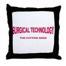 Surgical Technology - pink/red Throw Pillow