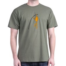 Orange Pole Vaulter T-Shirt