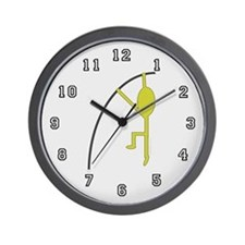 Gold Pole Vaulter Wall Clock