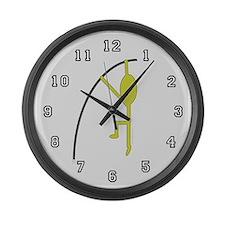 Cute Polevaulter Large Wall Clock