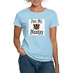 Fear My Monkey Funny Women's Pink T-Shirt