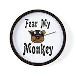 Fear My Monkey Funny Wall Clock