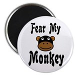 Fear My Monkey Funny Magnet