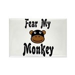 Fear My Monkey Funny Rectangle Magnet (100 pack)