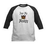 Fear My Monkey Funny Kids Baseball Jersey