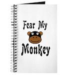 Fear My Monkey Funny Journal