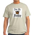 Fear My Monkey Funny Ash Grey T-Shirt