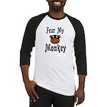 Fear My Monkey Funny Baseball Jersey