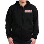 Know Guns Zip Hoodie (dark)