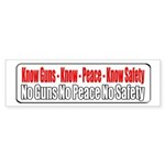 Know Guns Bumper Sticker (10 pk)