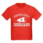 Everyone Loves a Cheerleader Kids Dark T-Shirt