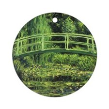 White Water Lilies by Claude Monet Ornament (Round