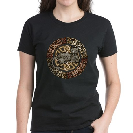 Celtic Cat Women's Dark T-Shirt