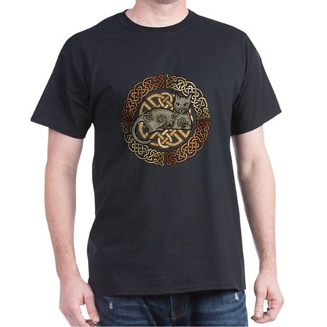 Celtic Cat Dark T-Shirt