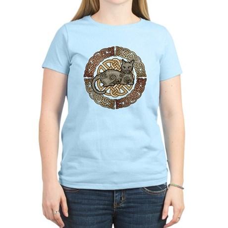 Celtic Cat Women's Light T-Shirt