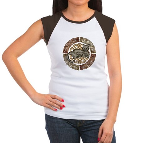 Celtic Cat Women's Cap Sleeve T-Shirt