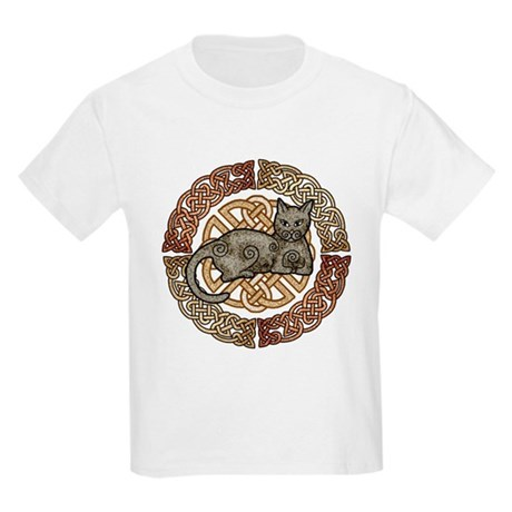 Celtic Cat Kids Light T-Shirt