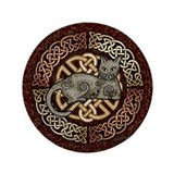 "Celtic Cat 3.5"" Button"
