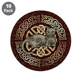 Celtic Cat 3.5&quot; Button (10 pack)