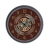 Celtic Cat Wall Clock