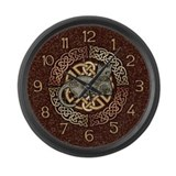 Celtic Cat Large Wall Clock