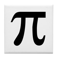 Pi white Tile Coaster